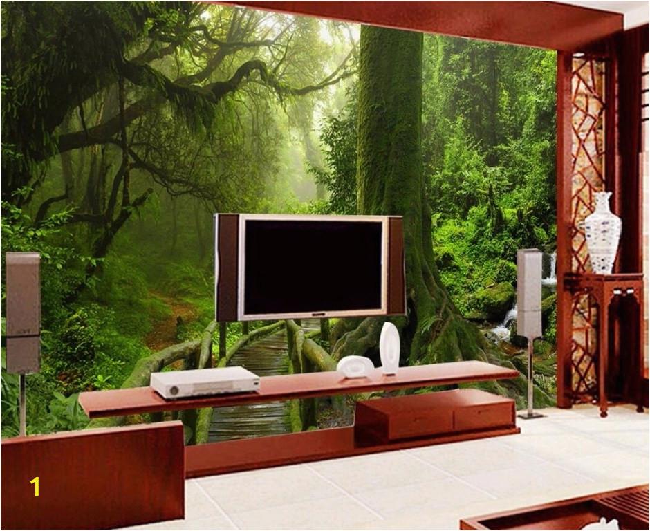 Painting A forest Wall Mural Ì¿Ì¿Ì¿ •Ìª Custom Mural Photo 3d Room Wallpaper Tropical Rain