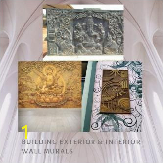 Painting Murals On Cement Walls Elevation Wall Murals & Cement Wall Art In Hyderabad
