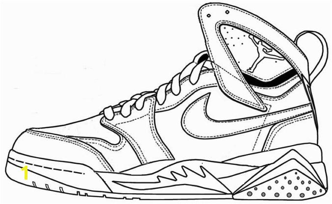 7312ae9018f3ada7051e0c9215e9df72 air jordan shoe coloring pages printable 1 shoes coloring page 676 417