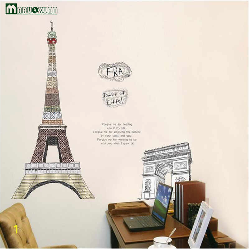 Maruoxuan Paris Eiffel Tower Living Room Bedroom Decor Vinyl Mural Art Wall Decals Bedroom 3d q50
