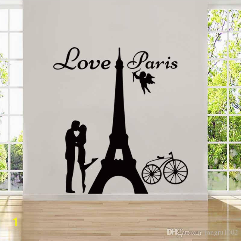 new design angels love paris wall decals
