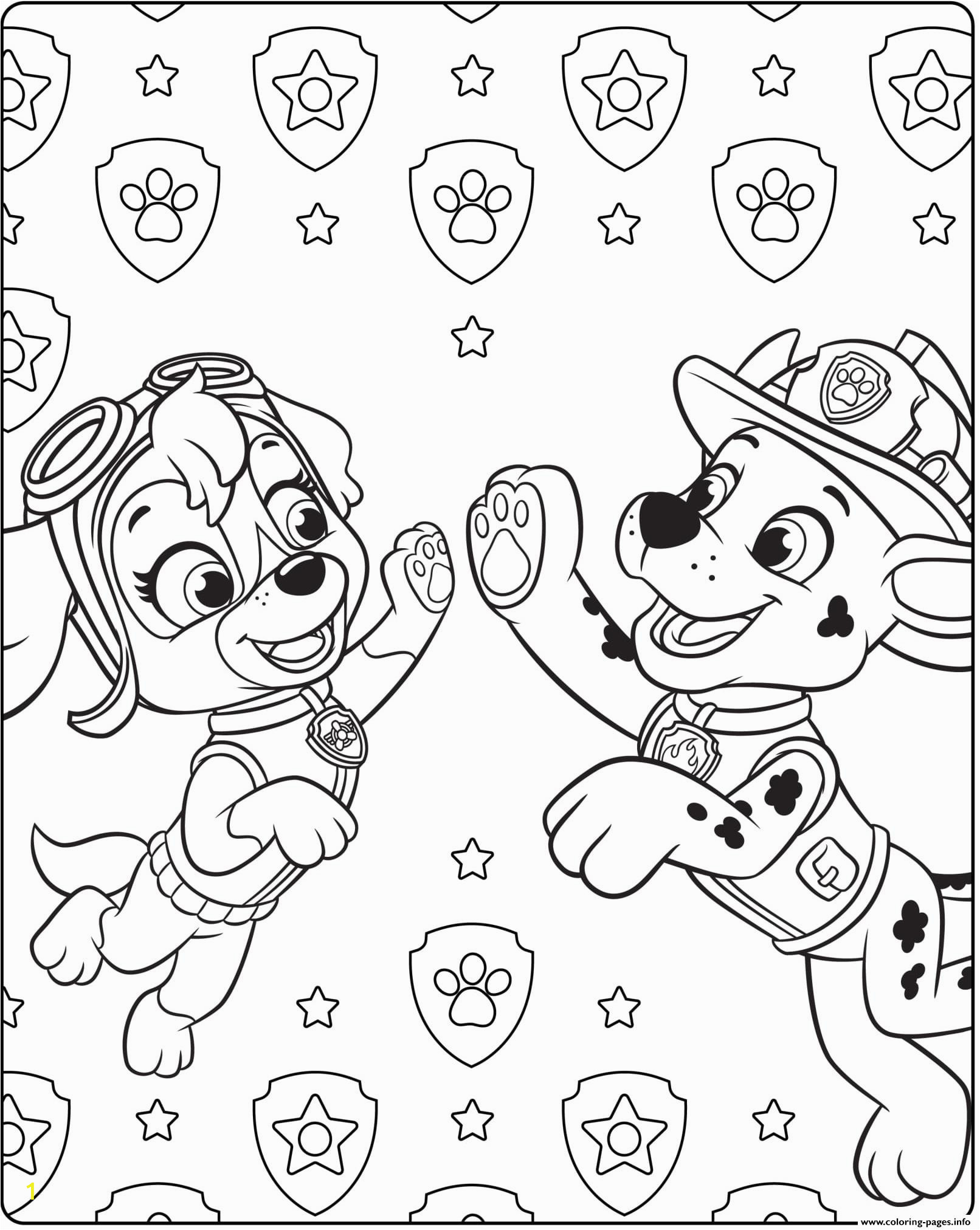 awesome paw patrol coloring pages skyedeas ultimate rescue marshall printable skye ideas from page colouring in and everest chase