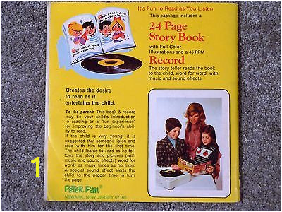lot 4 peter pan book and record pinocchio popeye pebbles bamm bamm goldilocks