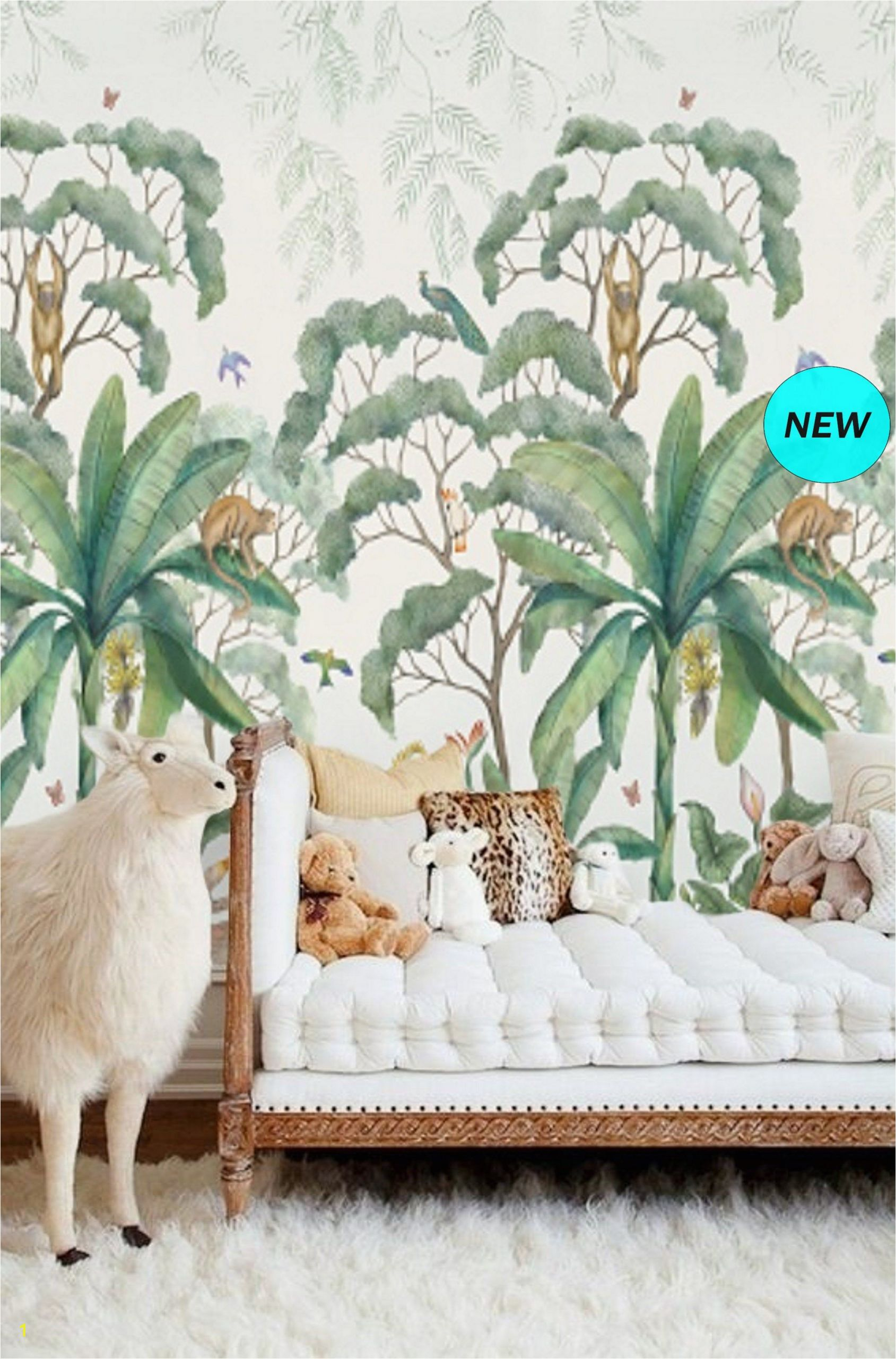 Peel and Stick Wall Murals for Kids Jungle Wall Mural Wallpaper Removable Peel & Stick Wallpaper