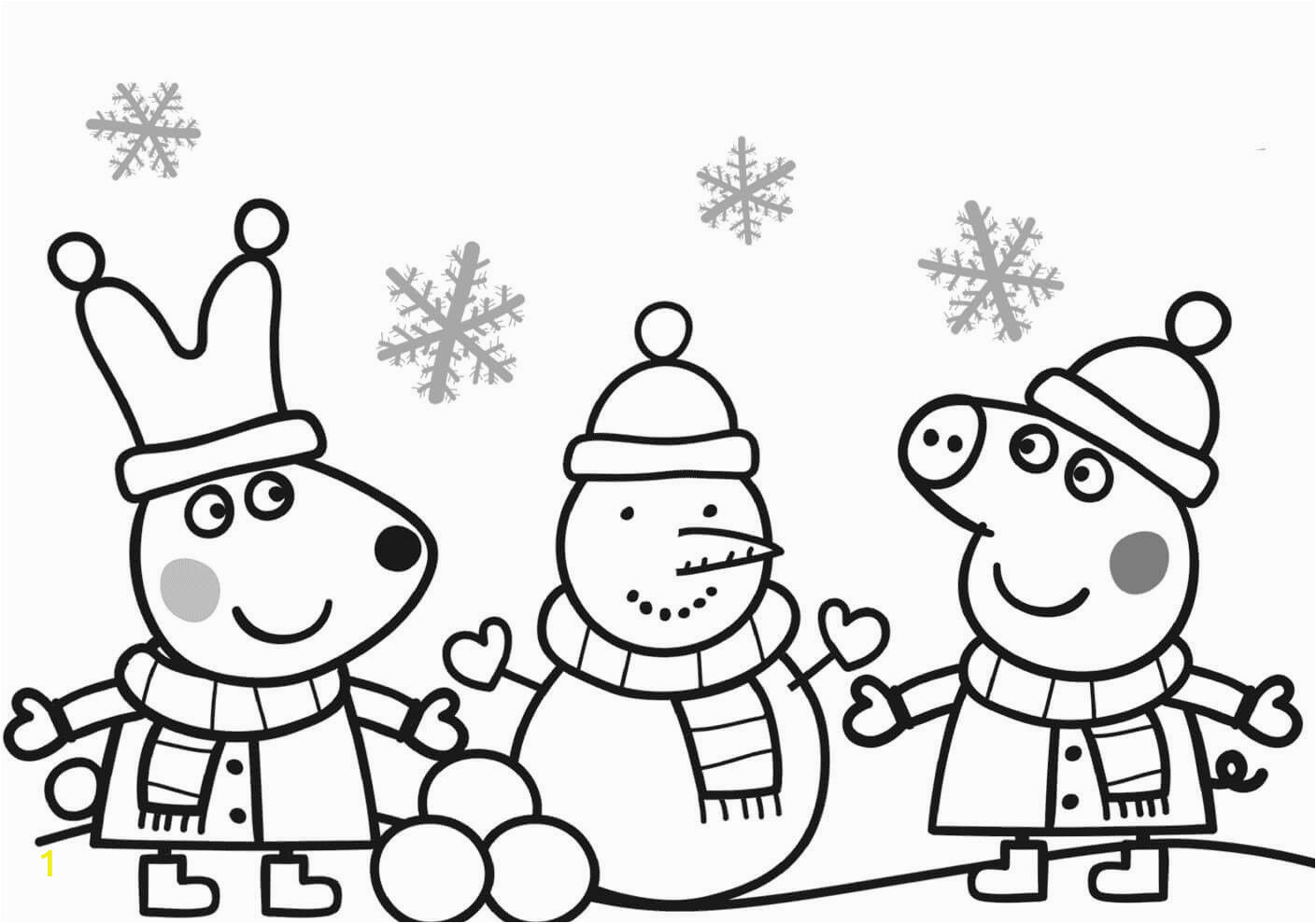 Peppa Pig Christmas Coloring Pages Pin On Best Cartoon Coloring