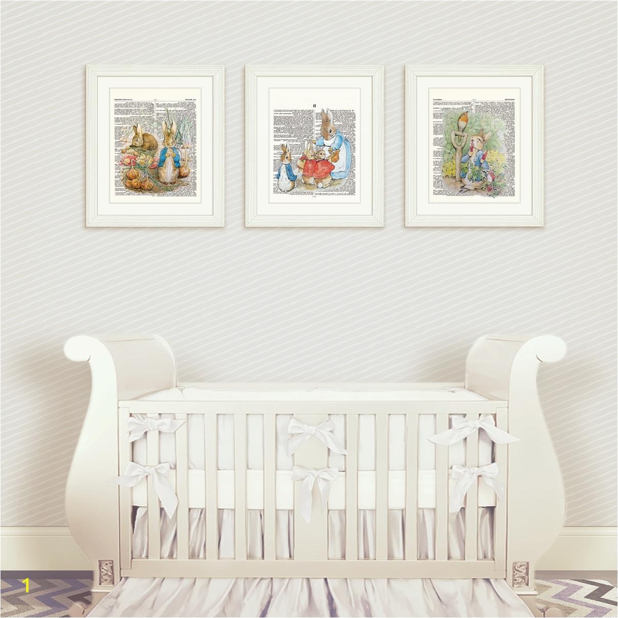 2017 peter rabbit nursery wall art within peter rabbit nursery wall art set 1