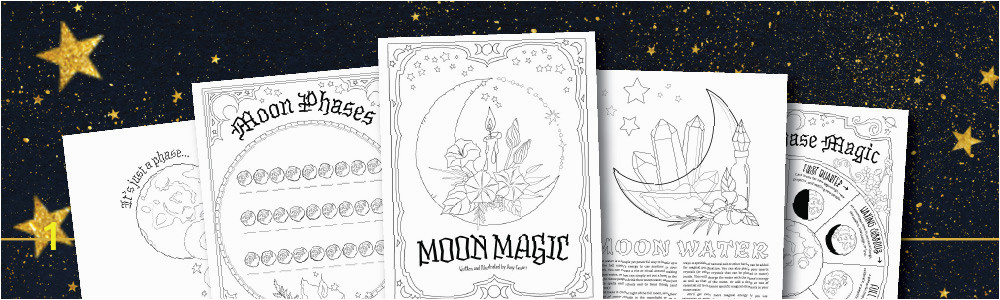 MoonMagic FreeColoringPages F