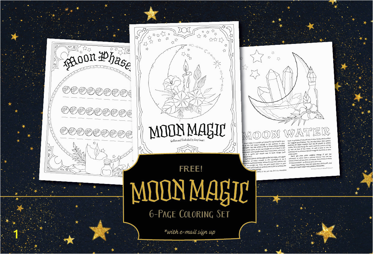 MoonMagic FreeColoringPages