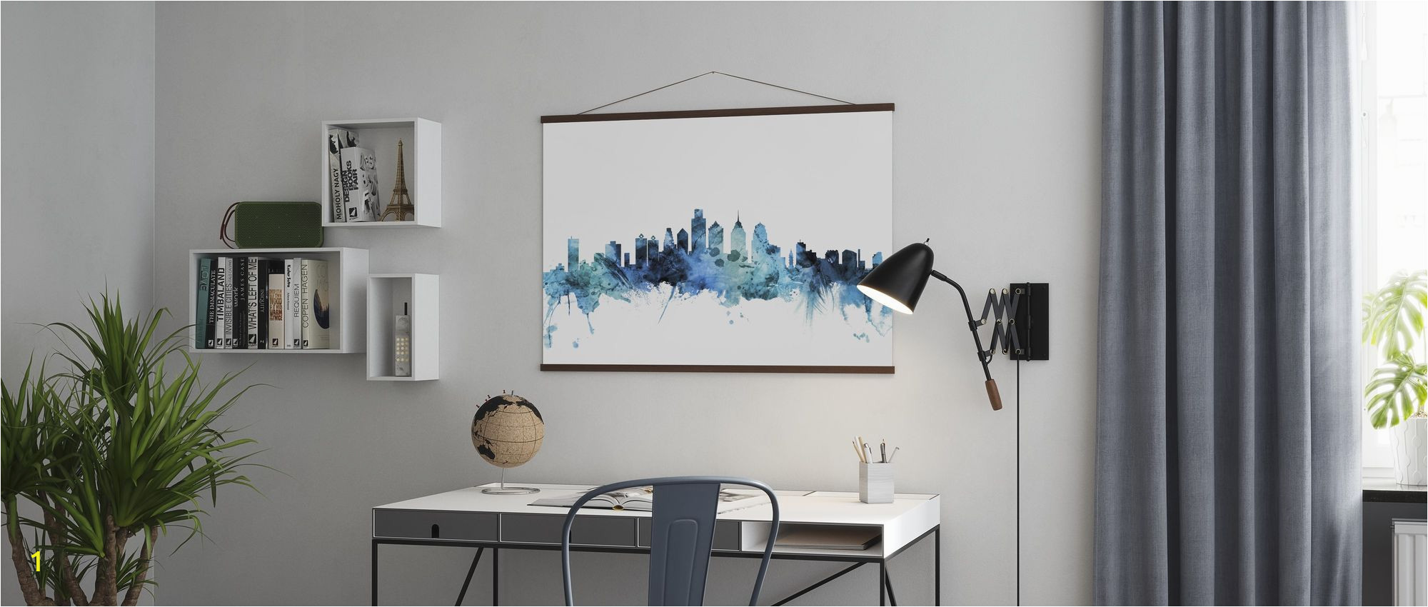 Philadelphia Skyline Wall Mural 1