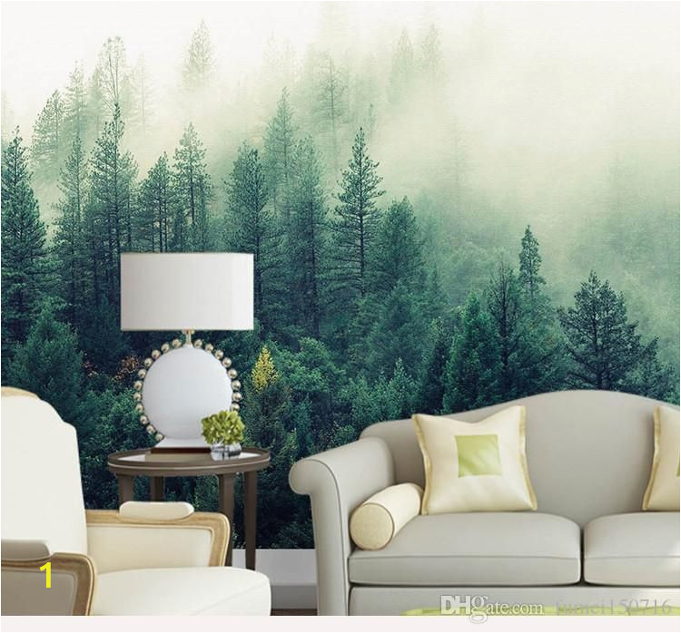 Photo Wall Murals Nature Custom 3d Papel Murals Nature Fog Trees forest Wallpaper 3d