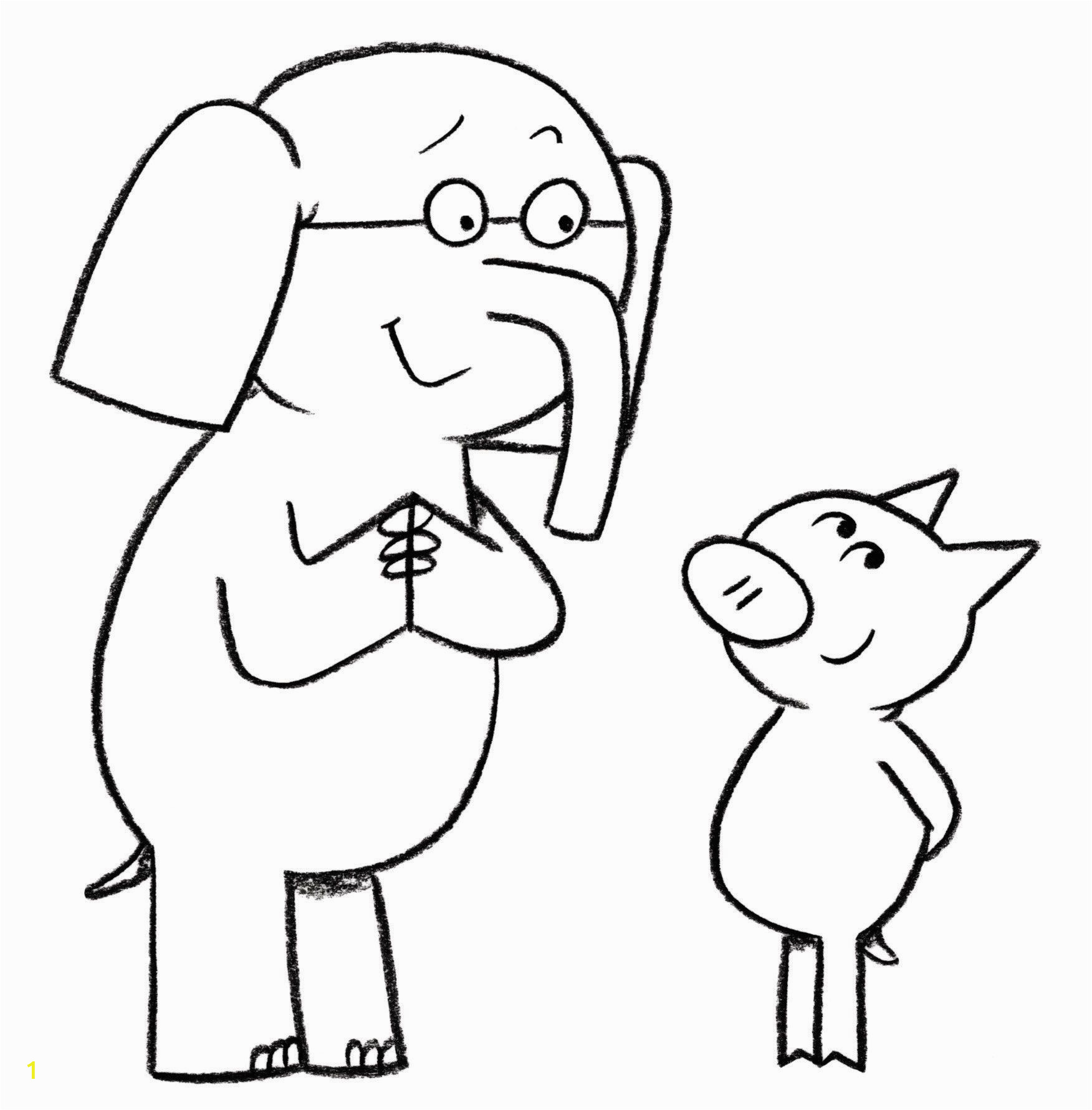 Piggie and Gerald Coloring Pages Download or Print This Amazing Coloring Page Elephant and