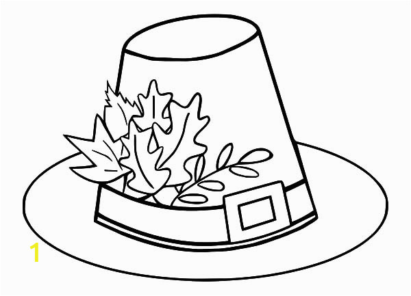 1d834ed830f3bc67c027b f77 pilgrim hat coloring page pilgrim hat with autumn leaves coloring 600 433