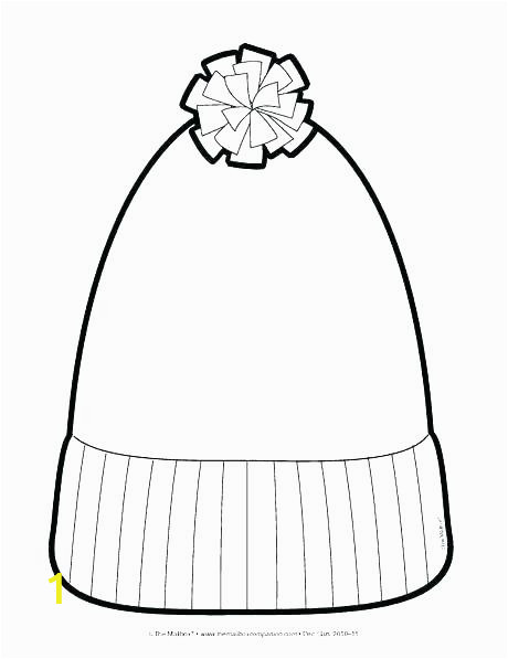 inspirational winter hat coloring page free printable pages