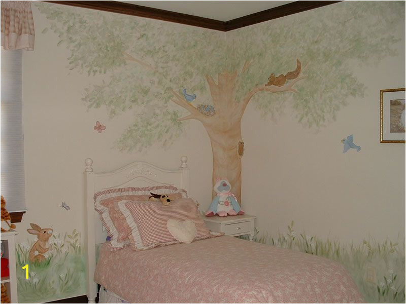 Pin Up Girl Wall Mural Tree Picket Fence Murals