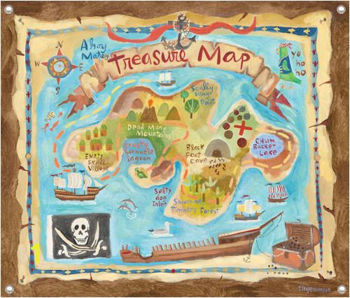Pirate Map Wall Mural Children S Wall Mural Treasure Map