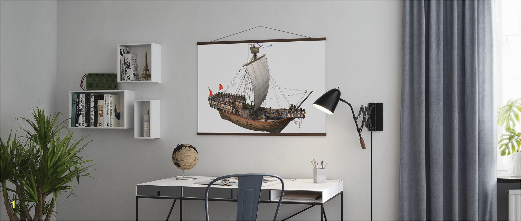 Pirate Ship Full Wall Mural Pirate Ship Trendy Poster Wall