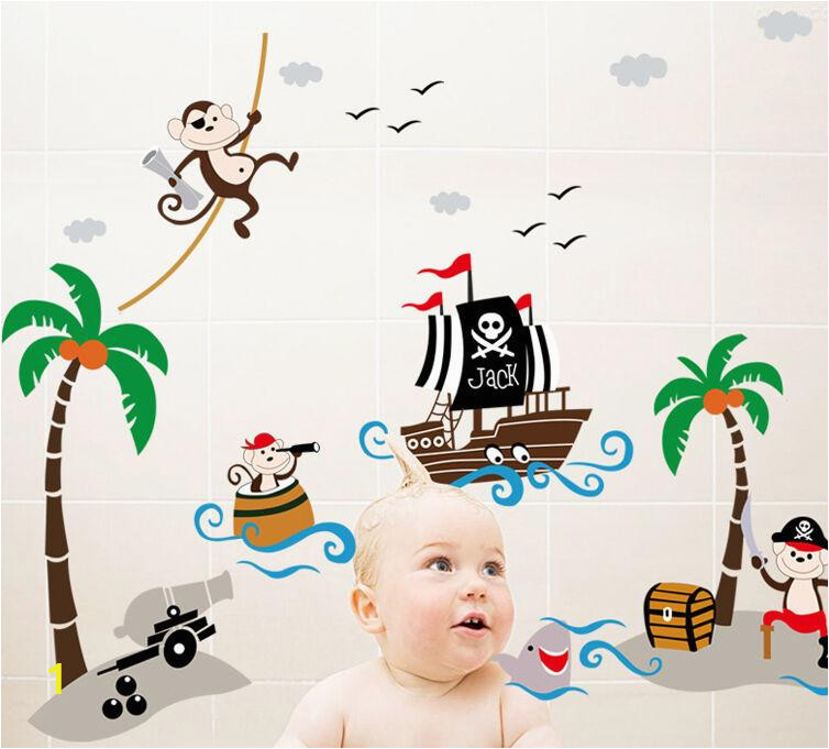 pirates vinyl wall decal with captain jack
