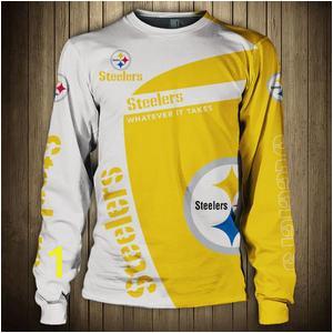 Pittsburgh Steelers Crewneck Sweatshirt Long Sleeve 300x300
