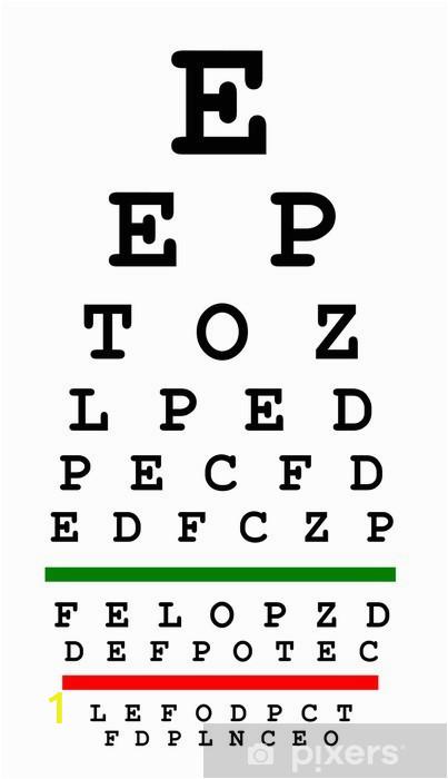 wall murals eyesight test chart