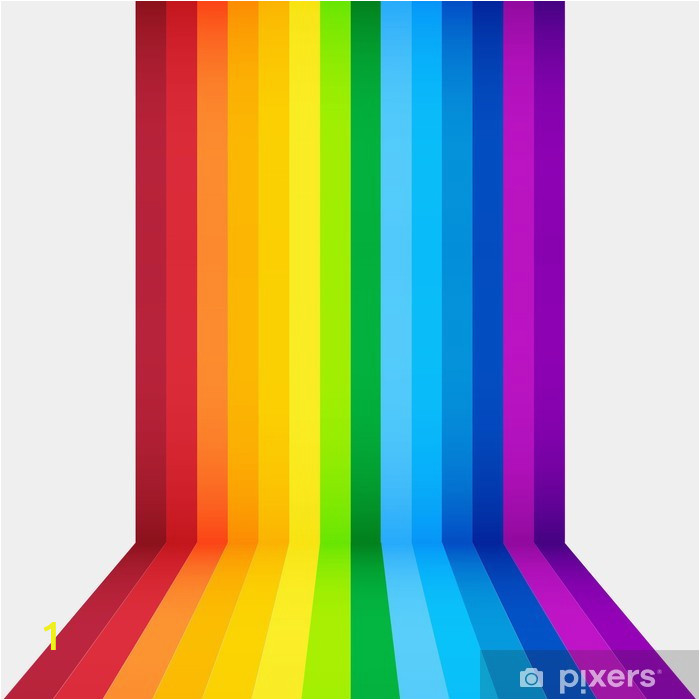 wall murals rainbow perspective background