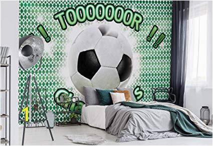 Play Ball Wall Mural Wallsticker Warehouse Fussball Fototapete Tapete