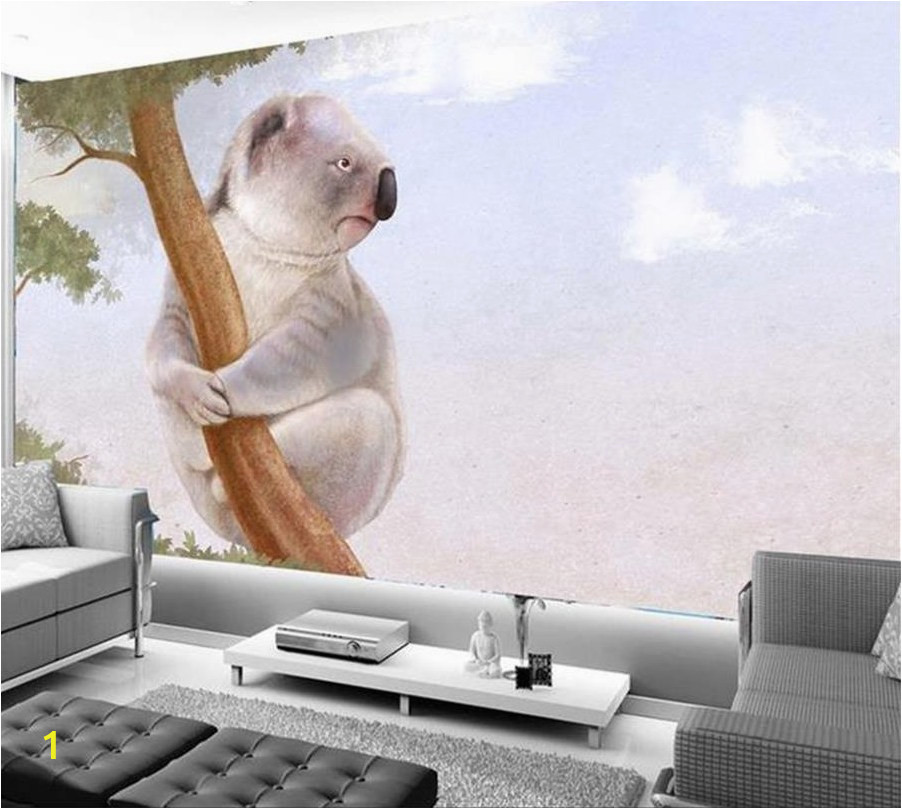 3d wallpaper custom mural photo wallpaper living room tree and koalas 3d painting sofa TV background