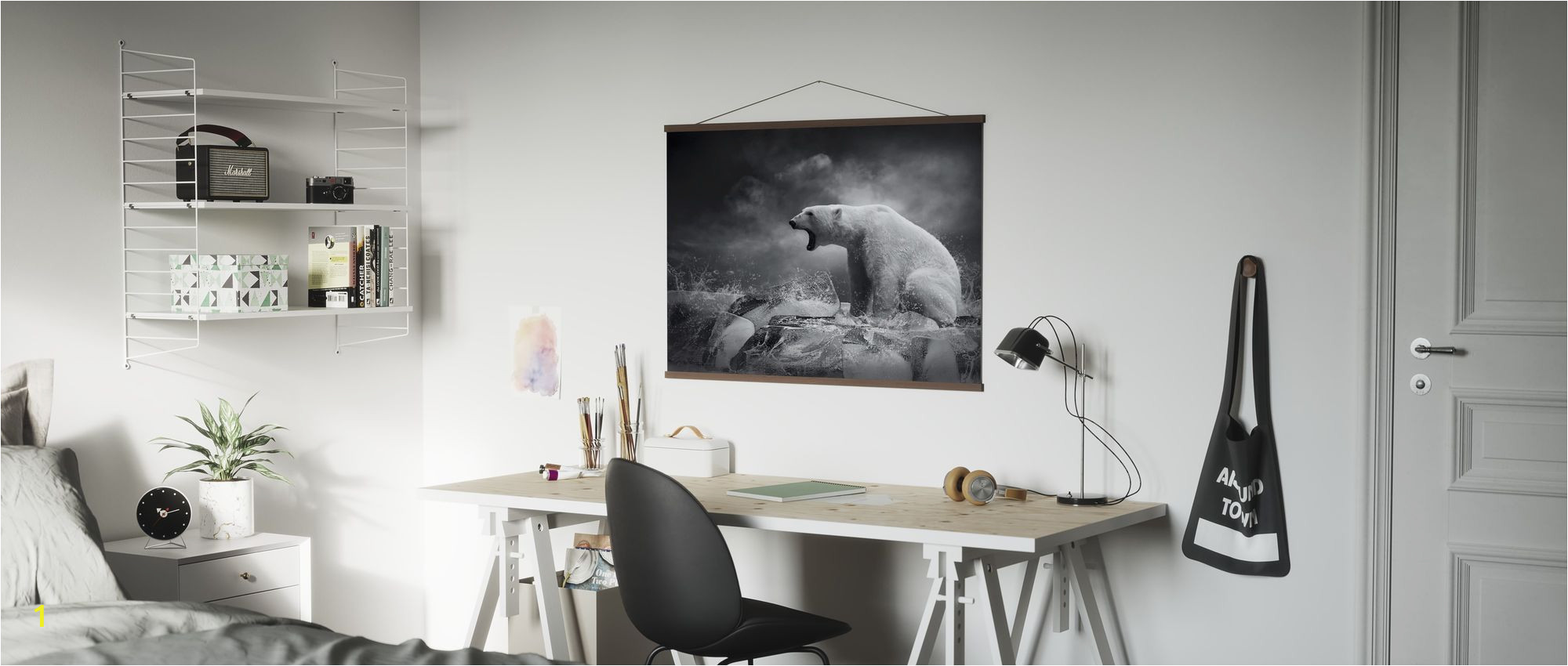 Polar Bear Wall Mural 2