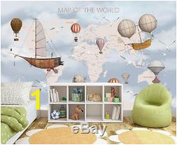 Kids World Map 3D Wallpaper Wall Mural Wall Sticker Removeable Self adhesive 4 04 th