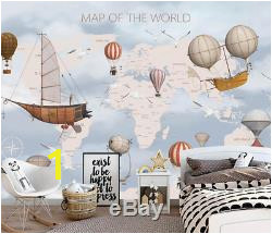 Kids World Map 3D Wallpaper Wall Mural Wall Sticker Removeable Self adhesive 4 02 cpd