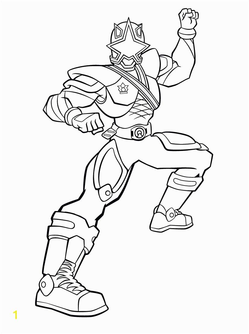 Power Rangers Ninja Steel Gold Ranger Coloring Pages