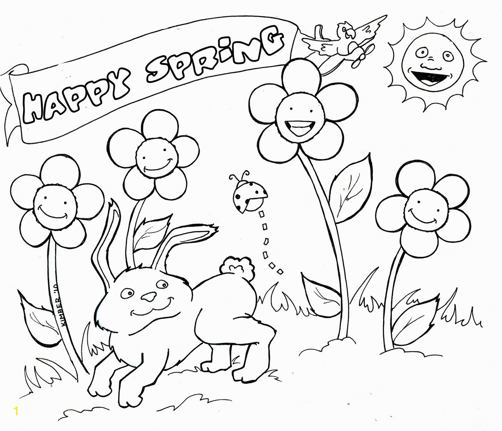 springtime coloring pages 1