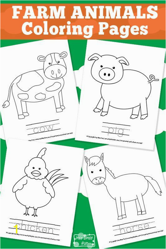 Preschool Farm Animal Coloring Pages Farm Animal Coloring Pages