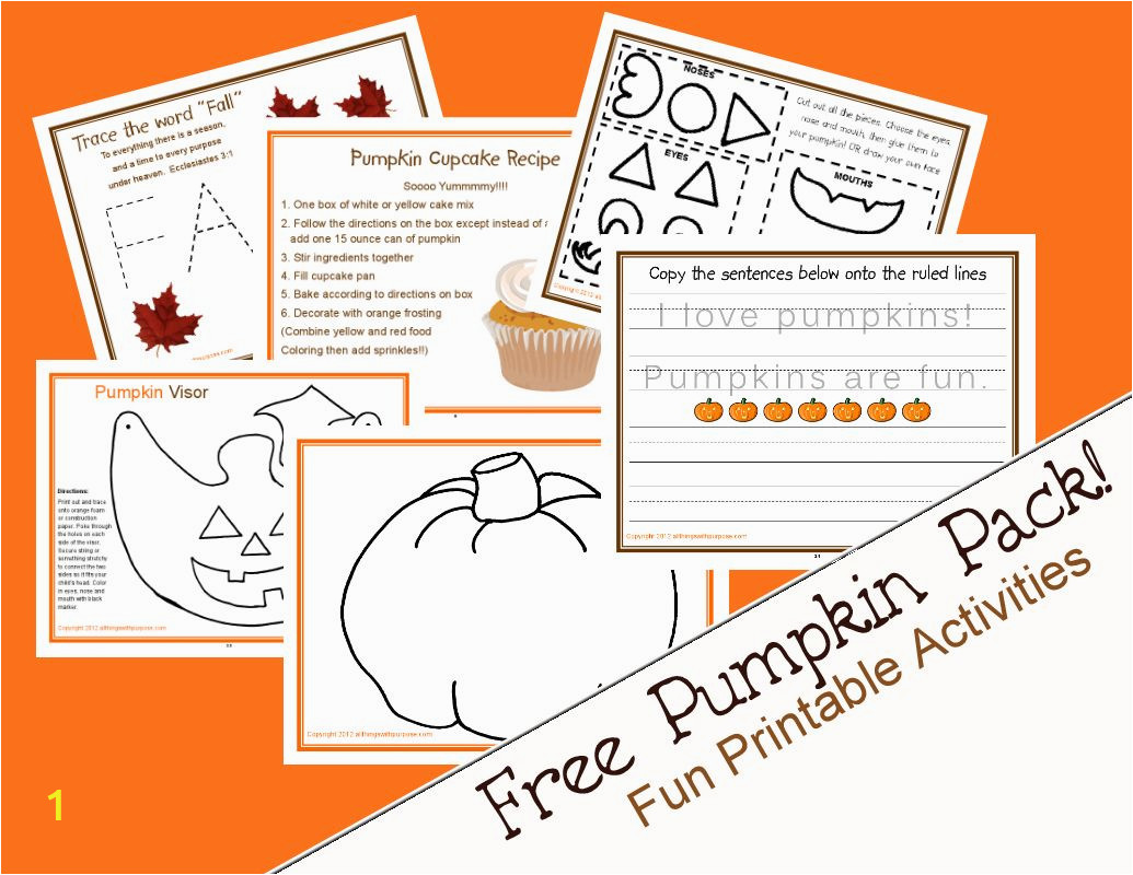 Preschool Pumpkin Coloring Pages Pumpkin Activity Pack