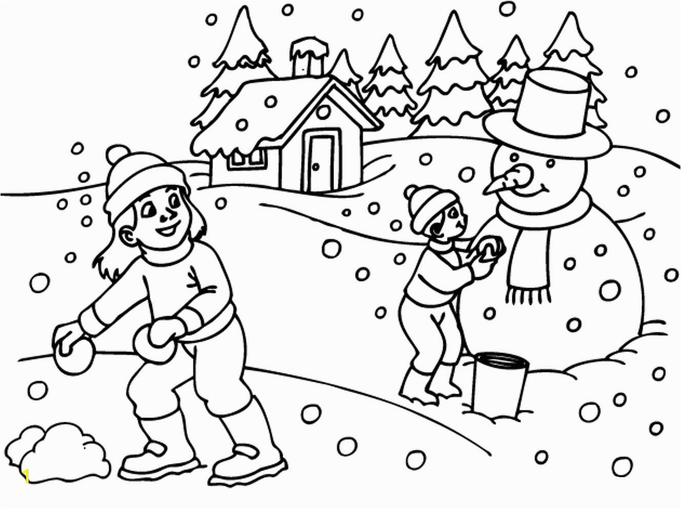 free printable winter coloring sheets page for kids pages kindergarten