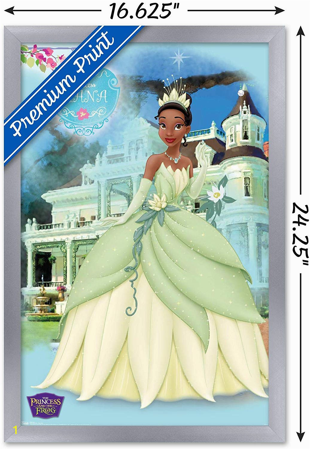 """Princess and the Frog Wall Mural Trends International Princess Frog Princess Wall Poster 22 375"""" X 34"""""""