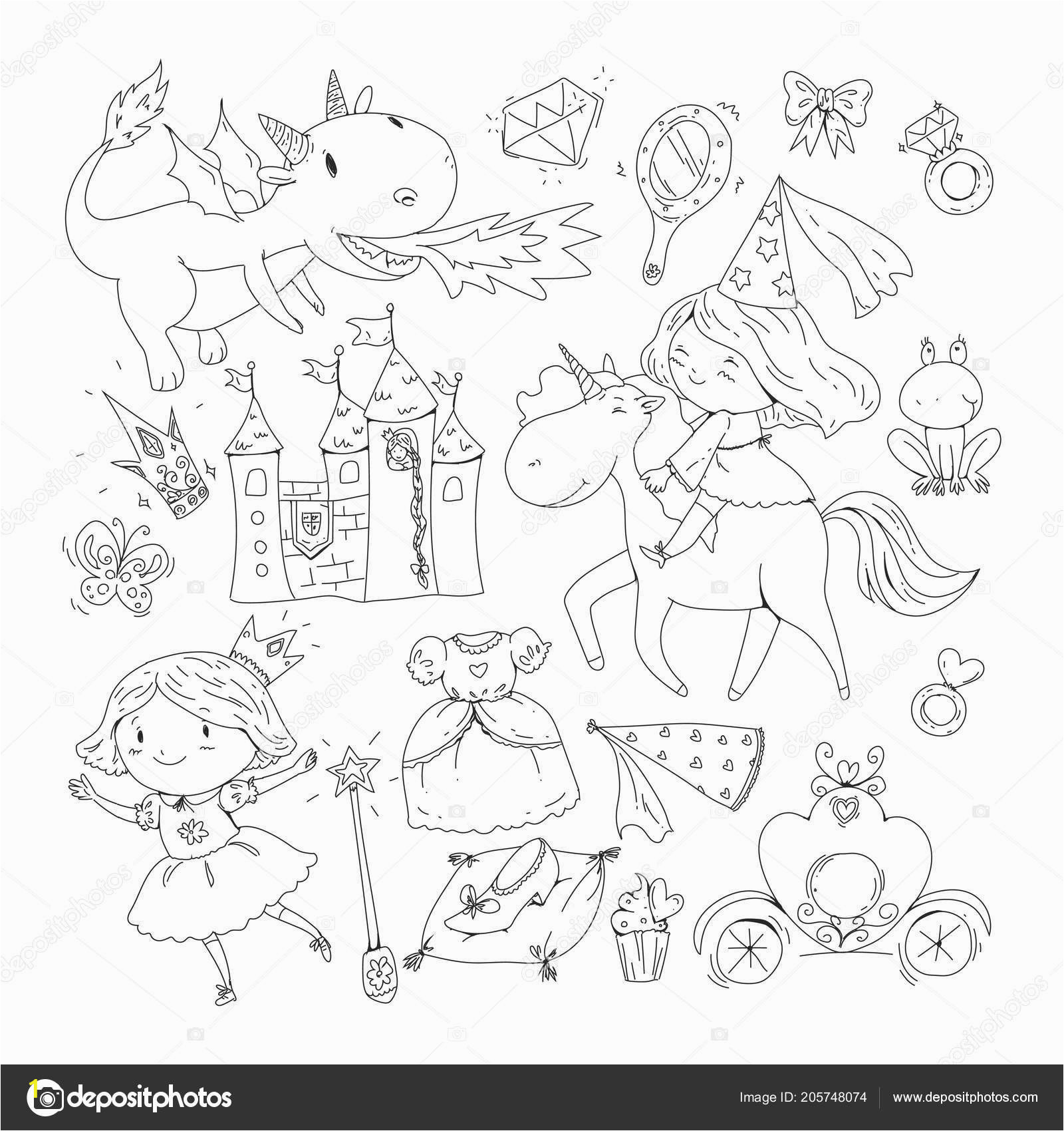 depositphotos stock illustration coloring page for book cute