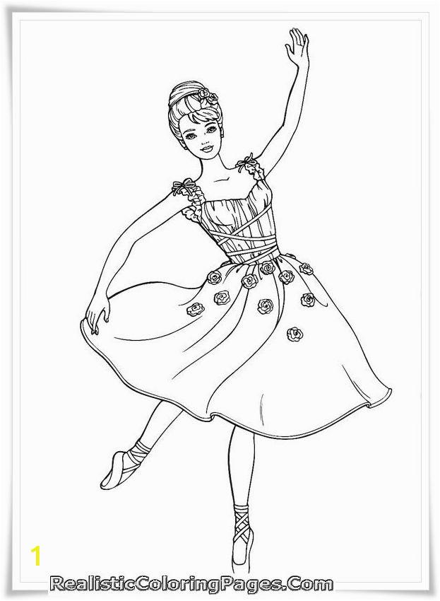 Printable Ballerina Coloring Pages Printable Barbie and 12 Dancing Princesses Coloring Sheet