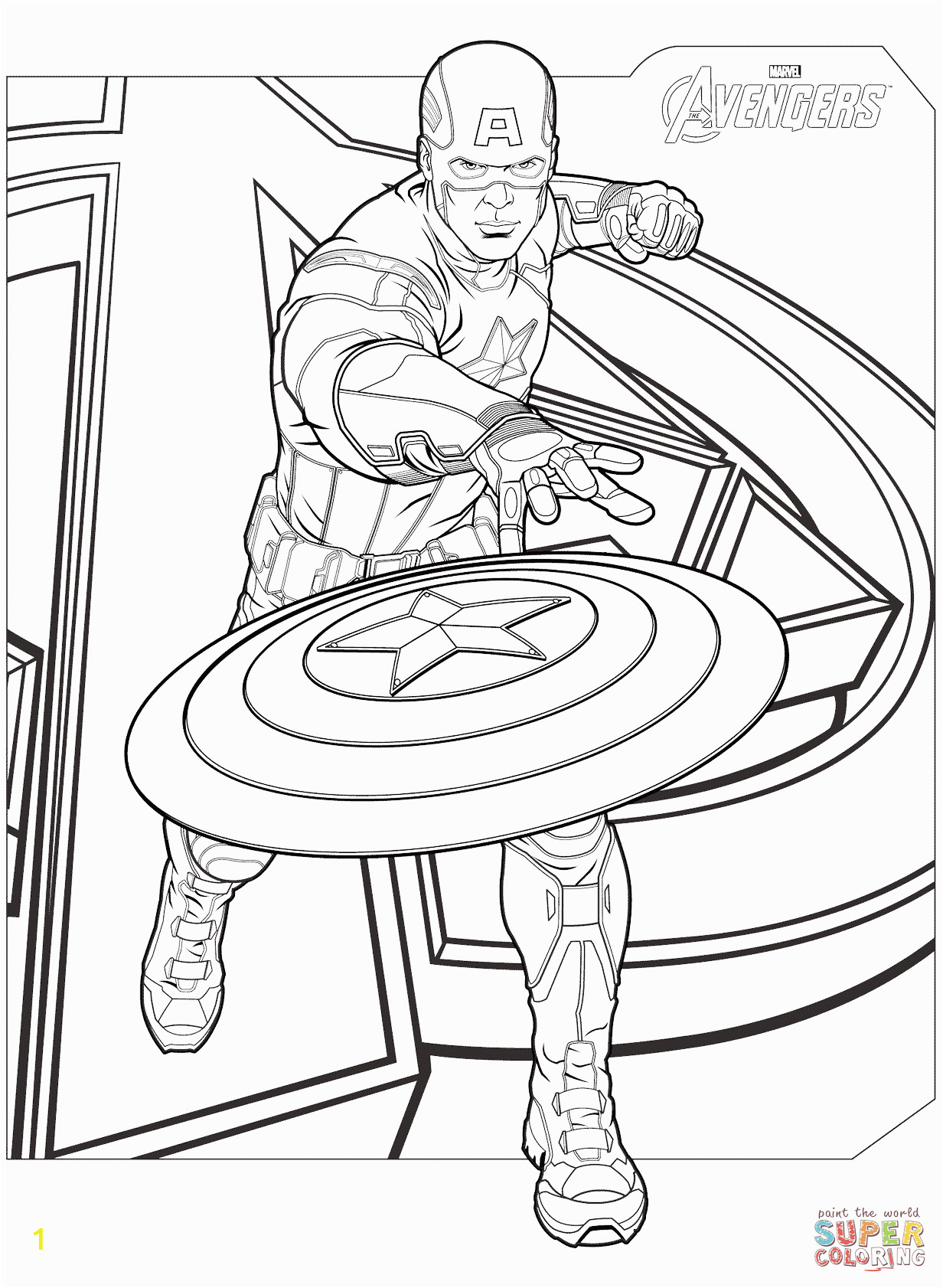captain america coloring page avengers free printable pages marvel scarlet witch infinity war black panther thor machine movie colouring pictures ant man and the wasp