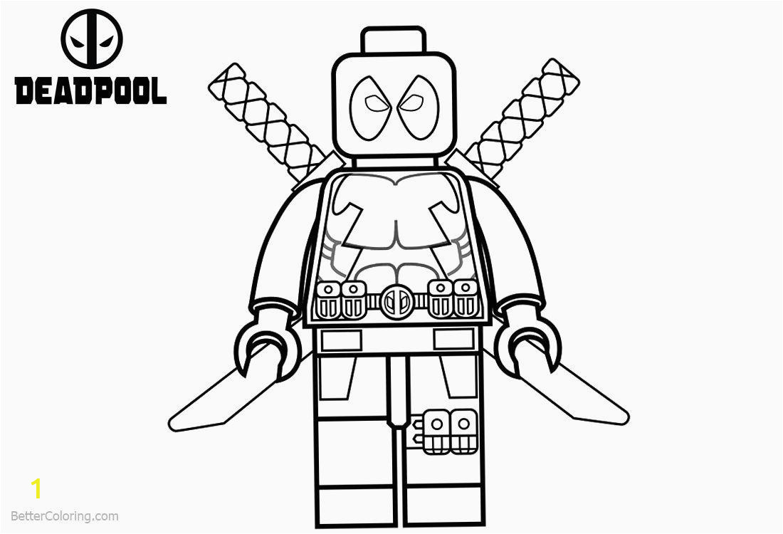 Printable Deadpool Coloring Pages Coloring Pages astonishing Wolverinering Pages Deadpool