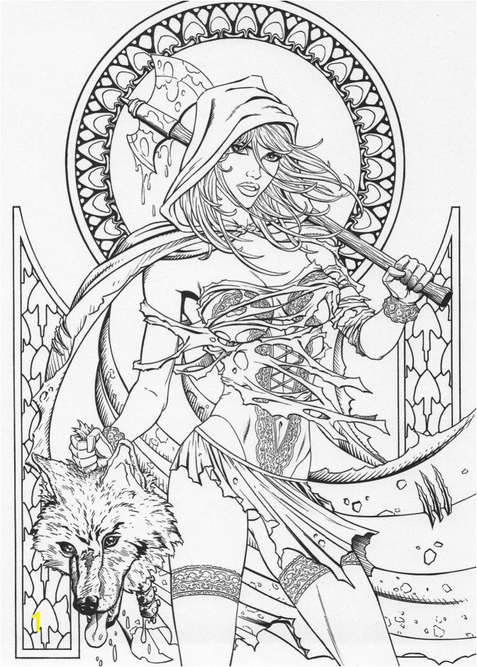 coloring book pages grimm fairy tales page in library children reading to print 672x940