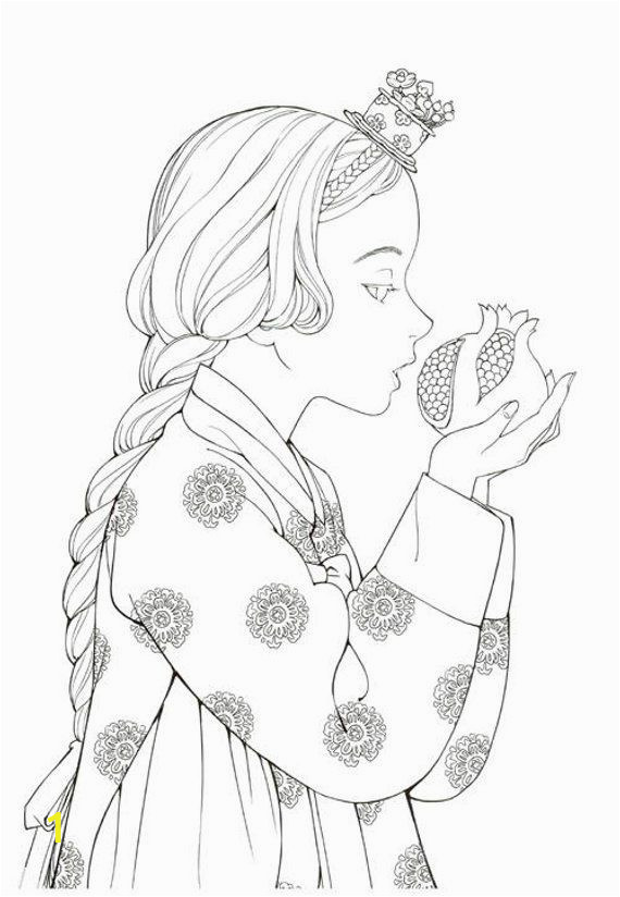 Printable Fairy Tale Coloring Pages Hanbok Fairy Tale Coloring Book by Woo Na Young