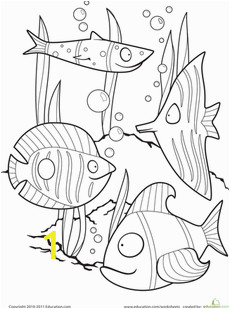 Printable Fishing Coloring Pages Color the Fancy Fish