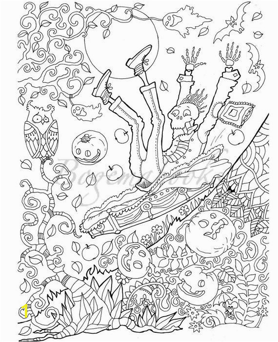 Printable Halloween Adult Coloring Pages Halloween Adult Coloring Book Pdf Coloring Pages Digital
