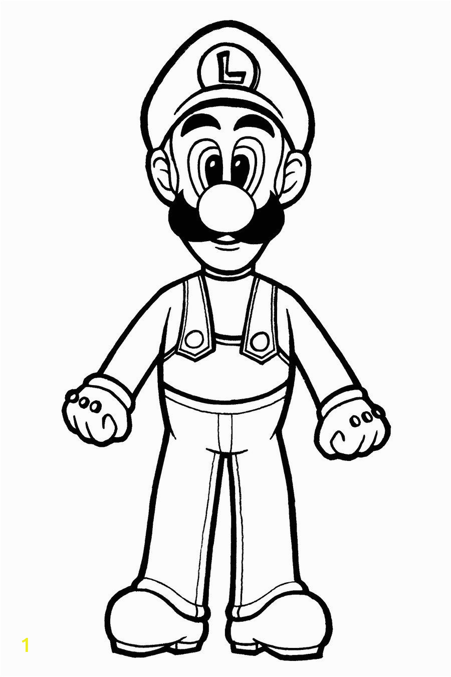 Printable Luigi Coloring Pages Printable Luigi Coloring Pages Free
