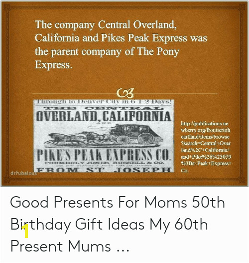 the pany central overland california and pikes peak express was