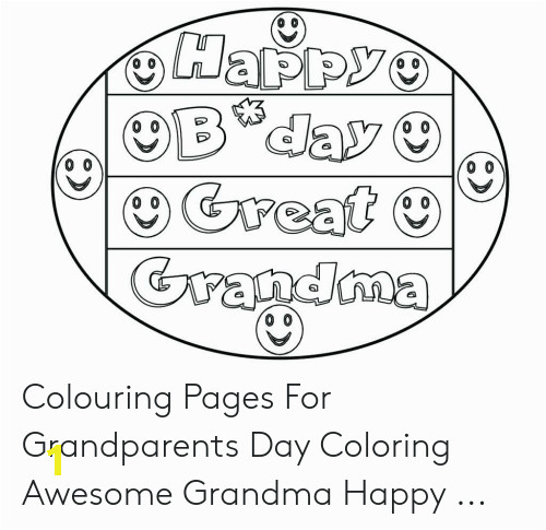 happy bday great grandma colouring pages for grandparents day coloring