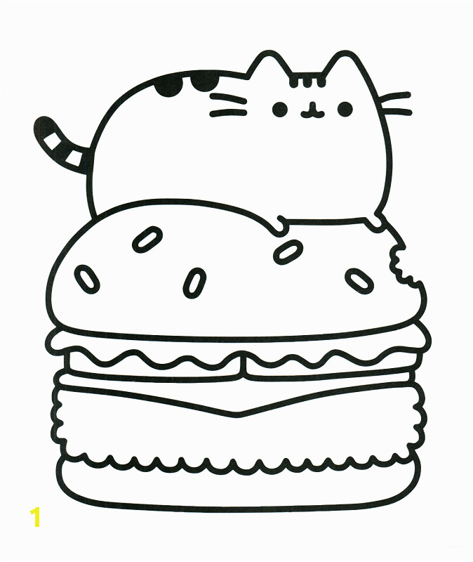 pusheen coloring pages that you can print