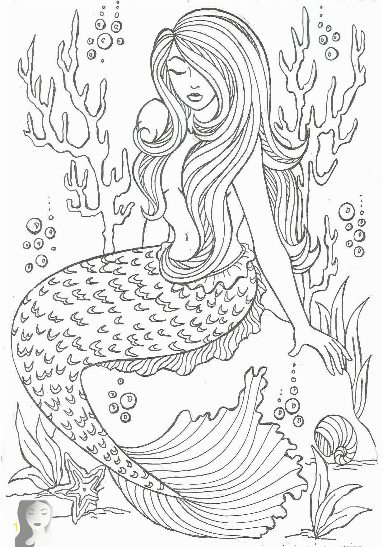 online coloring book for adults fun pages mermaid pdf printable kids