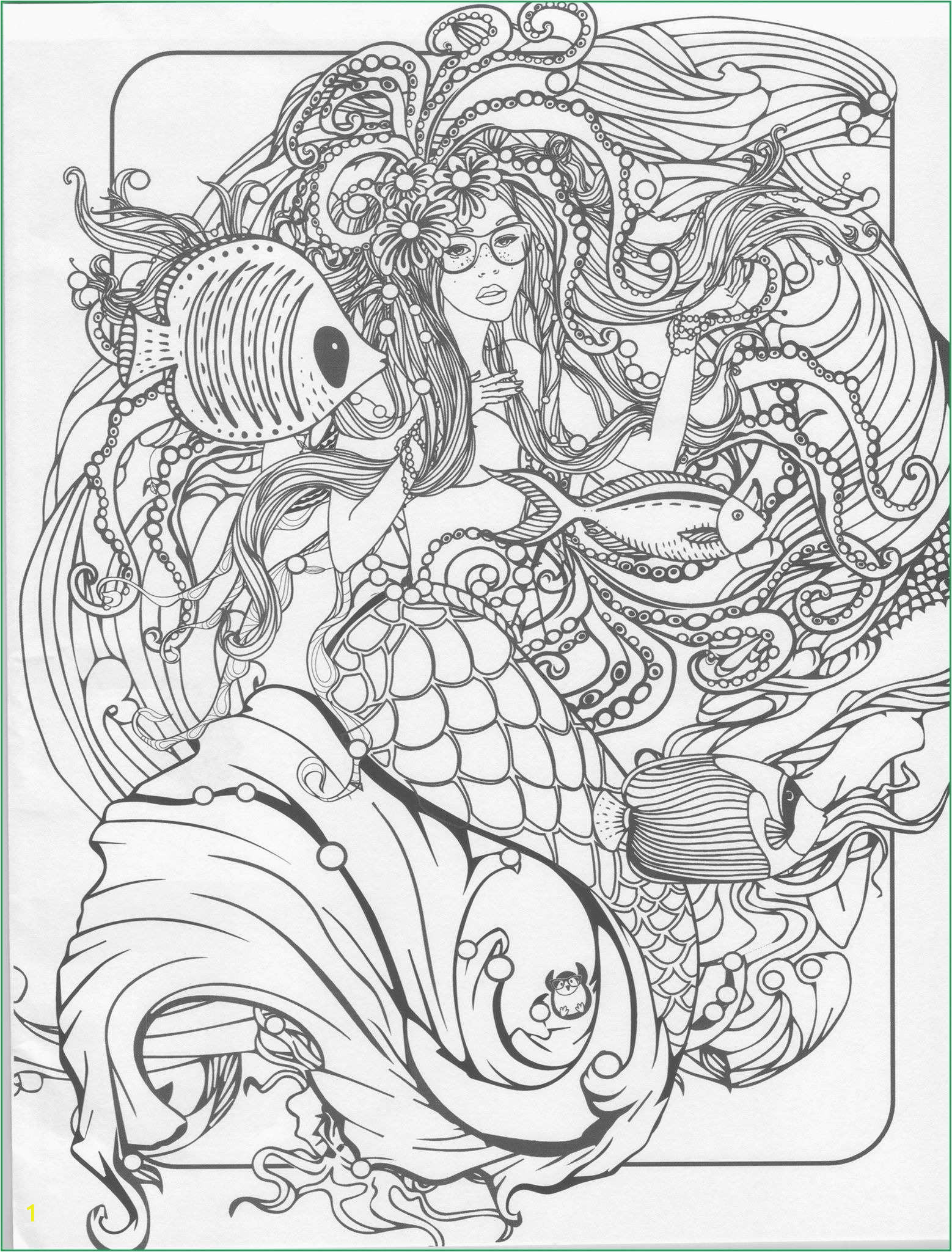 splendi mermaid coloringok pages photo ideas printable animals free flowers mermaid coloring pages for adults