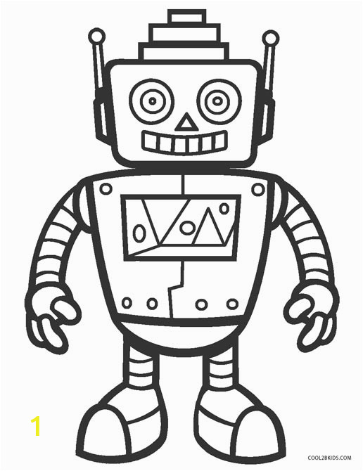 free coloring page robot